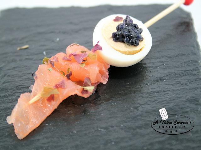 Picador oeuf de caille /saumon