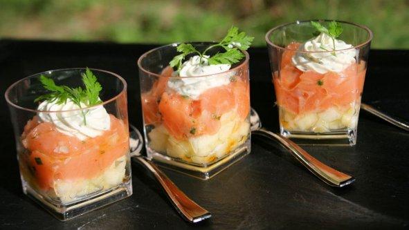 Verrine tartare saumon aux pommes grany copie