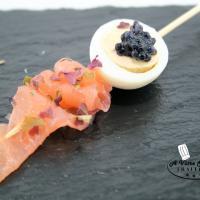 Brochette Oeuf de caille saumon