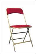 chaise doré-rouge