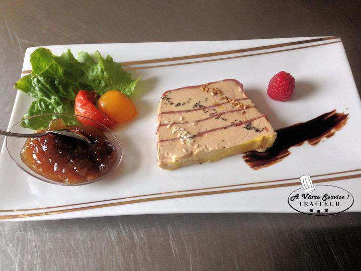 Foie gras marbré de canard fumé