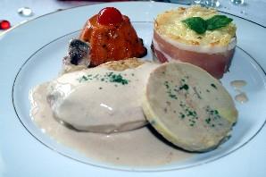 Suprème de poulet au foie gras