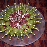 mini brochette raisin magret