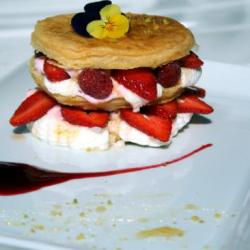 Mille feuille aux fruits rouges
