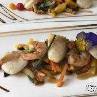 St Jacques et Crevettes légumes au Wok 2